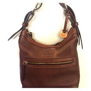 Dooney Burke bucket bag. Brown leather.